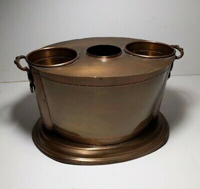 Vintage Copper Wine/Champagne Bottle Cooler Chiller Ice Bucket Art Deco Style