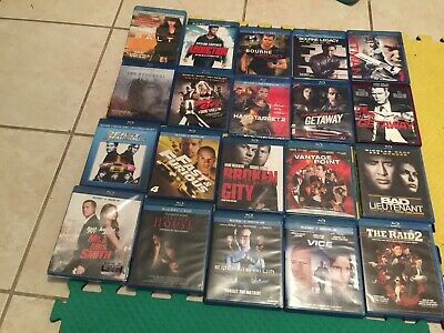 Lot Of 20  Blu Ray Movie Dvd Action Used No Digital Codes One Hd Dvd