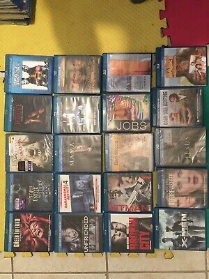 Lot Of 20 Blu Ray Movie Dvd Horror Action Drama Used No Digital Codes