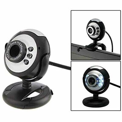 Au New 6 Led Usb 2.0 Webcam Camera Xp, Vista, Windows 7 10 Skype, Yahoo, Mic
