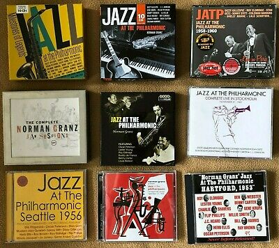 Lot of Jazz at the Philharmonic and Jam Session CDs Norman Granz 9 Sets, 41 CDs