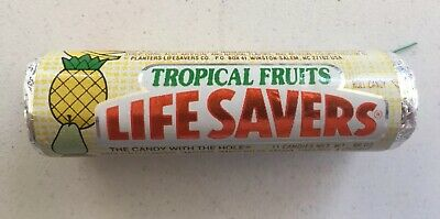 **Sealed**Vintage 1970's-1980's Life Savers Tropical Fruits Roll Hard Candy