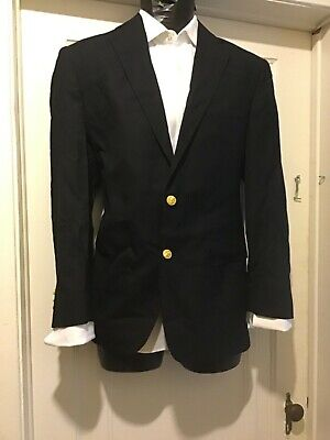 BROOKS BROTHERS Blazer Jacket Ing Loro Piana 1818 Madison Sz 38R Navy