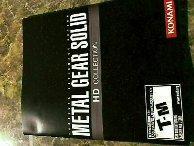 Metal Gear Solid Hd Collection - Playstation 3 Ps3 - Instruction Manual Only