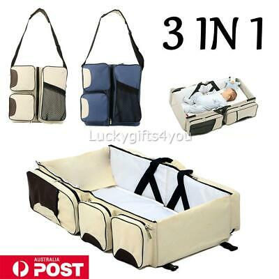 3 in1 Foldable Portable Bassinet Baby Infan Travel Cot Diaper Bag Nappy Changing