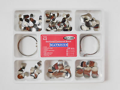 Dental TOR Matrix Bands Sectional Contoured Matrices Wedges Refill Clasp Ring
