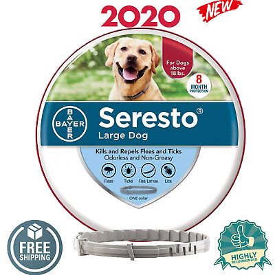 Bayer Seresto Large Dog Above 18 lb Flea & Tick Collar 8 Month Protection NEW