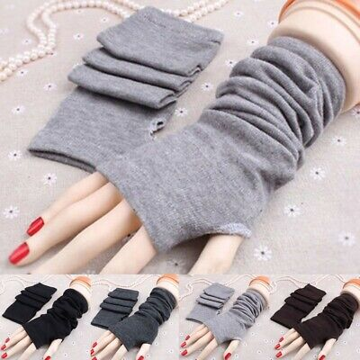 Stretchy Arm Warmers Long Fingerless Gloves Fashion Mittens Women Warmer Sleeves