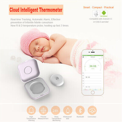 Electronic Bluetooth Body Temperature Thermometer Monitor Smart Sensor Baby Kids