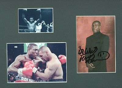 FRANK BRUNO Signed 12x9 Display HEAVYWEIGHT BOXING Legend COA