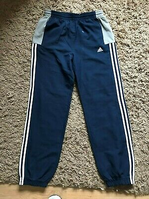 Adidas Boys Kids Jogging Tracksuit Bottoms (Blue) Ages 15-16 Years
