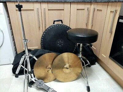"Sonor Stand, Hi Hats 14"", Pearl Hardware Case, Cymbal Case, Stagg Throne"