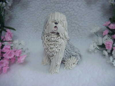 Old English Sheepdog - By Kathy Wise - Original Hang Tag and Picture of Kathy