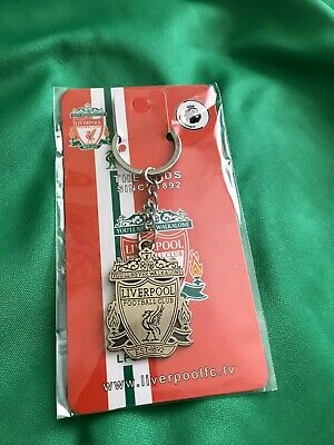 Liverpool Fc Gold Keyring Liver Bird Key Chain Ring Badge LFC