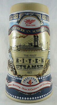 Miller High Life Great American Achievements River Steamer Beer Mug 4th Series