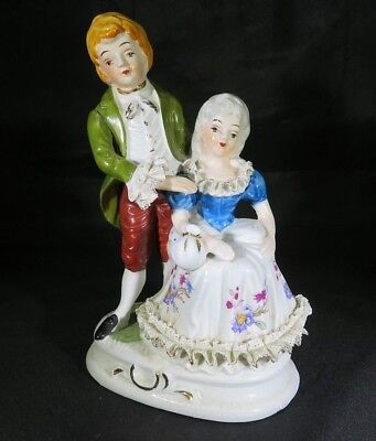 Antique German or Austrian porcelain romantic couple figurine
