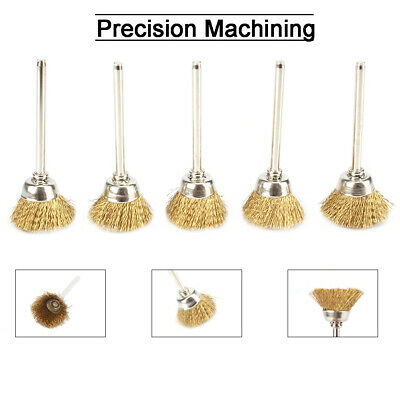 20Pcs Brass Wire Grinding Cup Brushes Kit for Polishing Metal Stone Rotary Tool