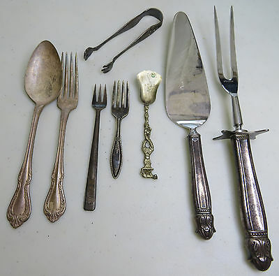 lot of 8 vintage antique silverware rogers reed barton community silver