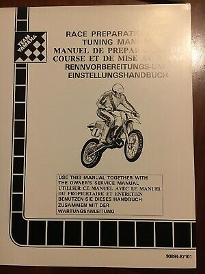 Manuale preparazione e messa a punto Yz, IT 1988 Ing Fra Ted 90894-87101