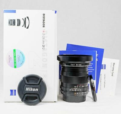 Carl Zeiss Distagon ZF.2 28mm f/2 T* +Hood & Filter for Nikon- MUST READ! (5762)