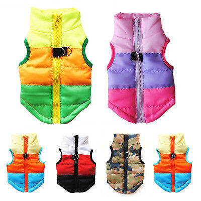 Pet Dog Puppy Winter Warm Padded Vest Coat Thick Puffer Jacket Clothes Costume