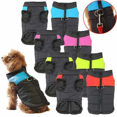 Waterproof Winter Warm Dog Puffer Thick Coat Clothes Padded Vest Puppy Jacket