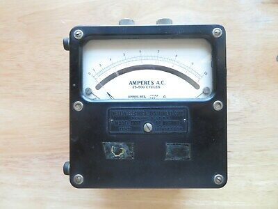 Vintage Weston Electrical Instrument AC Ammeter Model 433 Dual Range 0 - 10 Amp