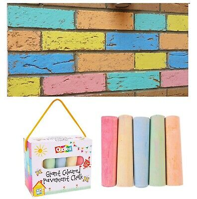 15 Jumbo Chalk Coloured Playground Pavement Childrens Kids Garden Activity Craft