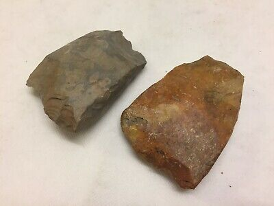 Danish Neolithic Flint Stone Age 2x Axes Original Ancient Artifact Denmark