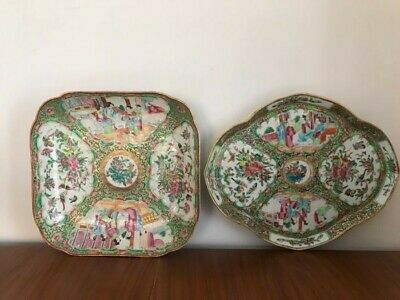 Plates (2) - Canton Porcelain - China/Chinese - 19th century