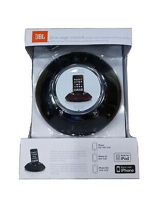 iPhone JBL On Stage Micro II Speaker System for iPod 30 Pin Connector Black
