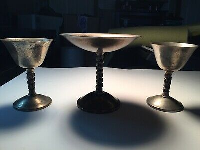 Spain Silver Factory Made in Madrid Vintage Goblet Cocktail Roma S.L