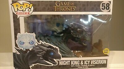 Funk Pop! Rides: Game of Thrones: Night King & Icy Viserion #58  GITD.  NIB