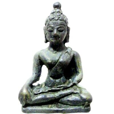 Antique Bronze Thai Statue Chiengsaen Buddha, LANNA STYLE TEMPLE RELIC 19th C