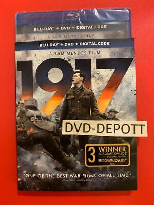 1917 Blu-ray + DVD + Digital HD & Slipcover Brand New FAST Free Shipping