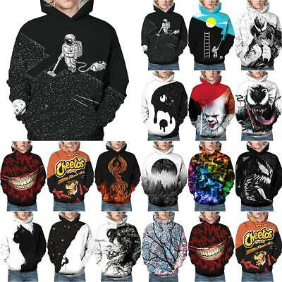 Galaxy Space Nebula 3D Print Kids Boys Girls Hoodie Sweatshirt Pullover Jumper