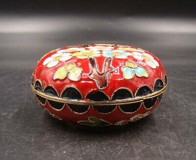 65mm Collectible Handmade Copper Brass Cloisonne Enamel Makeup Boxes