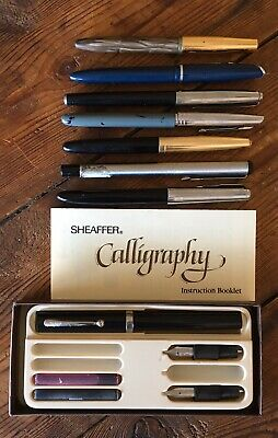 Vintage Fountain Pen X 8 Parker, Sheaffer, Platignum, Stenmark Clipper Etc