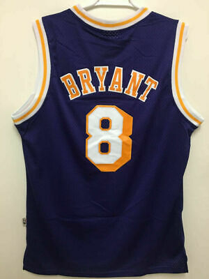 Los Angeles Lakers #8 Kobe Bryant Purple Retro Throwback Stitched Jersey