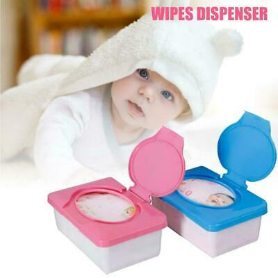 Wet Wipes Dispenser Holder Tissue Storage Box Case with Lid Home Office Tools