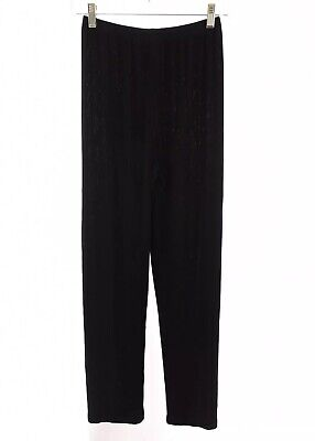 Chico's Travelers Womens Pull On Pants Acetate Stretch Black Sz 0 Reg Small 4