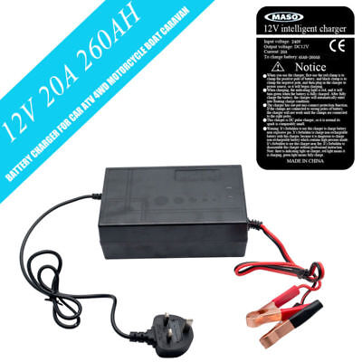 12 Volt 20 Amp 12V Automatic Intelligent Battery Charger Trickle Fast Car Van Uk
