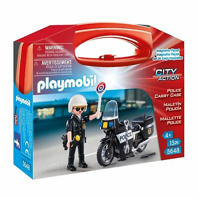 Playmobil Child / Kids Toy 5648 City Action Police Carry Case
