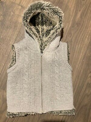 Two In One Girls Winter Vest Size 4 Hoodie