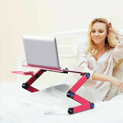 Laptop Table Folding Desk Stand Bed Tray Sofa Computer Study Adjustable Portable