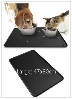 Pet Puppy Silicone Waterproof Feeding Food Mat Dog Cat Non Slip Bowl Placemat 47
