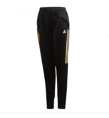 ADIDAS Boys Black Belgium Tracksuit Bottoms Age 13-14 Years BNWOT