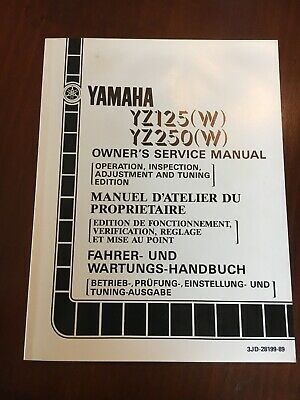 Manuale preparazione e messa a punto Yz 125/250 1989 Ing Fra Ted 3JD-28199-89