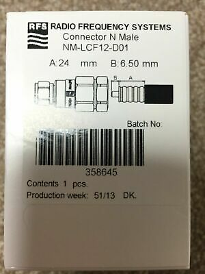 Rfs Radio Frequency Systems Connector N Male Nm-Lcf12-D01