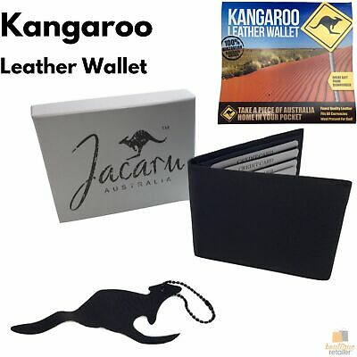JACARU Australian Kangaroo Leather Wallet Credit Card Genuine with Gift Box 5789